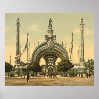 "Paris, 1900 ""Exposition Universal"" Grand Entrance Poster"