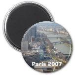 París 2007 imán de frigorífico