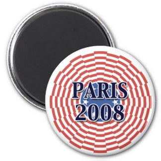Paris 2008 2 inch round magnet