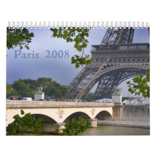 París 2008 calendario de pared