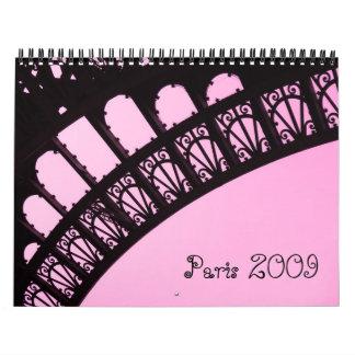 Paris 2009 wall calendars