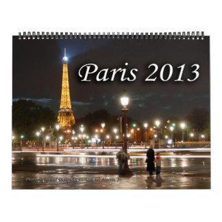 Paris 2013 Calendar