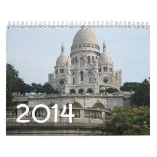 Paris 2014 calendar