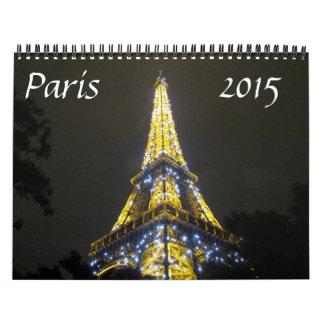 París 2015 calendario de pared
