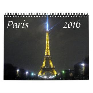 París 2016 calendario de pared