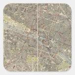 París 4 pegatina cuadrada