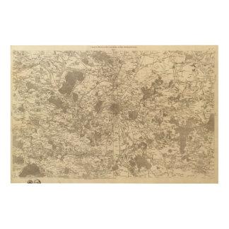 París 5 cuadros de madera