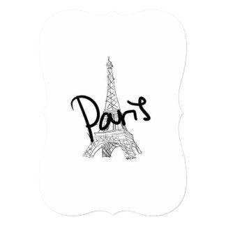 Paris 5x7 Invitation