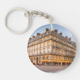Paris - A bar on the corner of the street Single-Sided Round Acrylic Keychain
