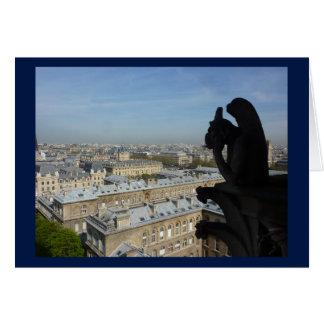 Paris: A Gargoyle's View Card