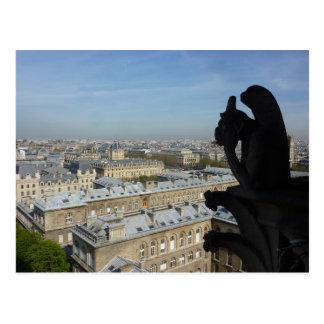 Paris: A Gargoyle's View Postcard