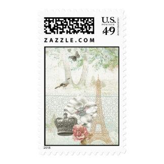 Paris a la Impressionism Postage Stamp