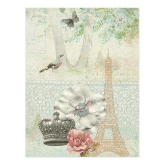 Paris a la Impressionism Postcard