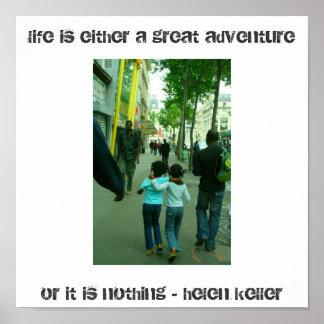 paris adventure helen keller quote poster