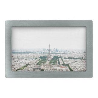 Paris aerial view belt buckle