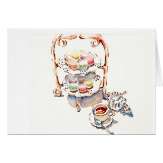 Paris Afternoon French Tea Greeting Card