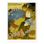 París-Almanach Tarjeta Postal