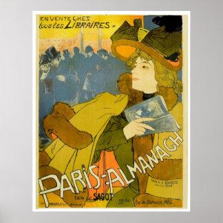 Paris Almanach ~ Vintage Travel Advertisement Poster