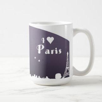 París amo París yo corazón París j aime París Tazas