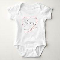 PARIS Amour (heart) Baby Bodysuit