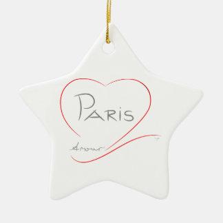 PARIS Amour (heart) Ceramic Ornament