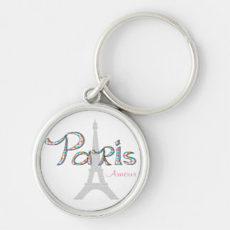 PARIS Amour with Eiffel Tower Keychain