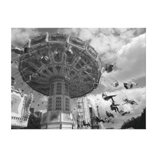 Paris Amusement Park Canvas Print