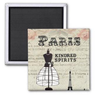Paris and I Refrigerator Magnets