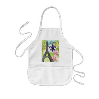 Paris and the Poodle Kids' Apron