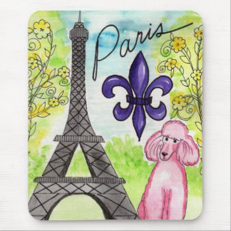 Paris and the Poodle Mouse Pad