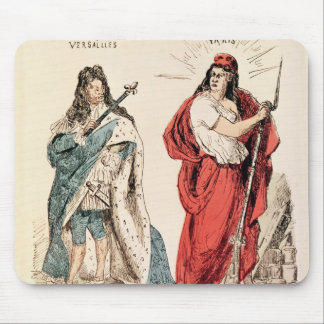 Paris and Versailles Glaring at Each Other, 1871 Mouse Pad