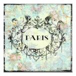 "Paris Antique Style Ornate Invitation 5.25"" Square Invitation Card"