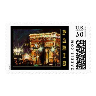 Paris Arc de Triomphe Postal Stamp by Ginette
