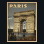 """Paris - Arc De Triomphe Postcard<br><div class=""""desc"""">Anderson Design Group is an award-winning illustration and design firm in Nashville,  Tennessee. Founder Joel Anderson directs a team of talented artists to create original poster art that looks like classic vintage advertising prints from the 1920s to the 1960s.</div>"""