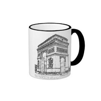 Paris ~ Arc de Triomphe Ringer Mug