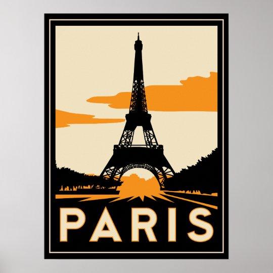 Paris art deco retro poster - Magasin art deco paris ...