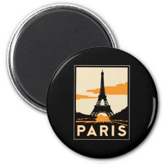paris art deco retro travel poster 2 inch round magnet