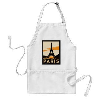 paris art deco retro travel poster adult apron