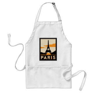paris art deco retro travel poster aprons