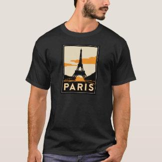 paris art deco retro travel poster T-Shirt