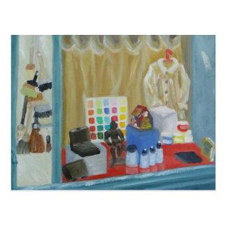 Paris Art Shop Postcard