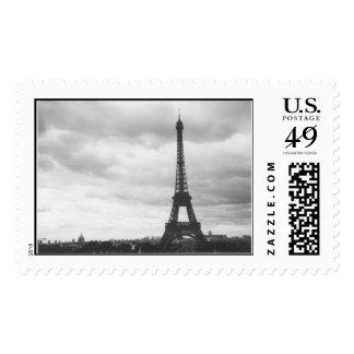 paris at dusk postage stamps