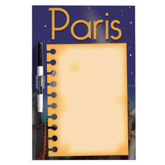 Paris at night dry erase board