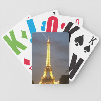 Paris at Night: Eiffel Tower Bicycle Playing Cards