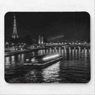 Paris at night photo mouse mat