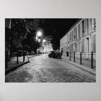 Paris at night posters