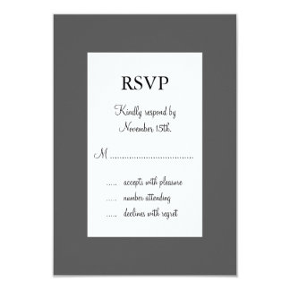 Paris at Night RSVP 3.5x5 Paper Invitation Card
