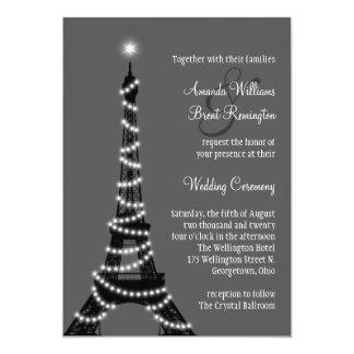 Paris at Night Wedding Invitation