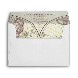 Paris Atlas Map Envelope