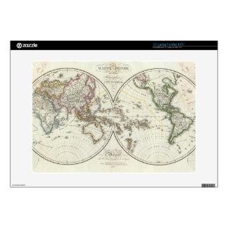 Paris Atlas Map Laptop Decals